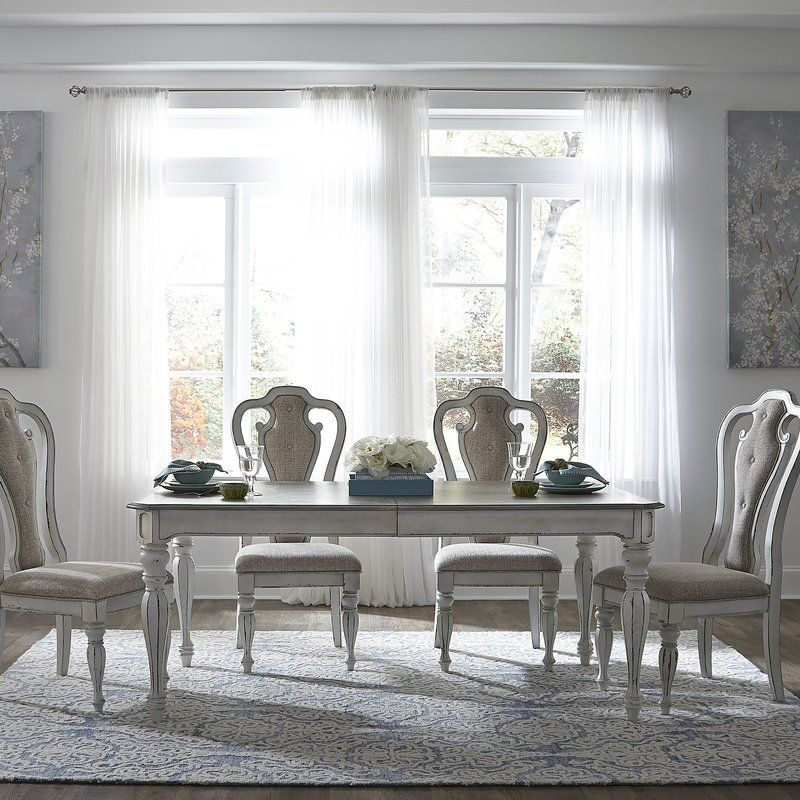 Lark Manor Tiphaine Extendable Dining Table Reviews Wayfair Dining Table Extendable Dining Table Dining Room Sets
