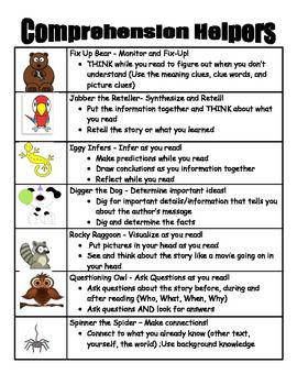 1 Poster With An Overview Of The 7 Beany Baby Decoding Strategies Page Co
