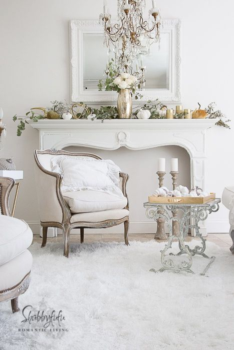 Elegant And Simple Fireplace Mantel Decorating Ideas Shabby Chic