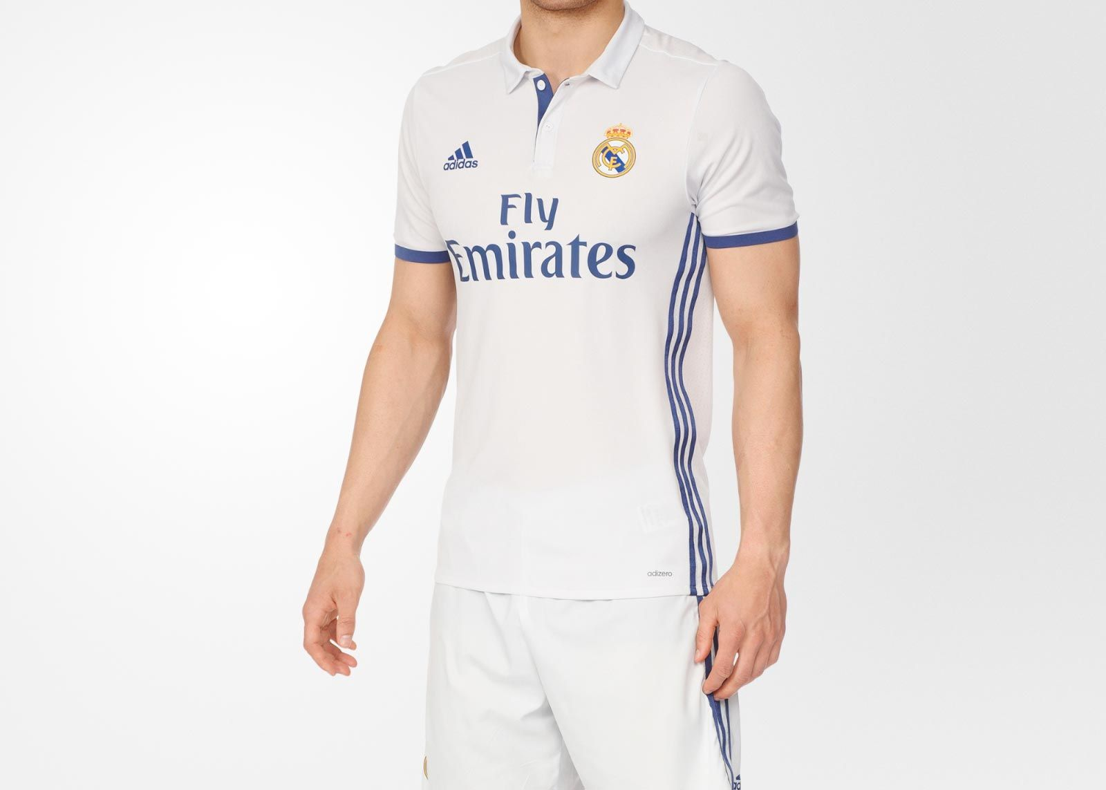 The new Real Madrid 16-17 home kit is white and blue cc0071417