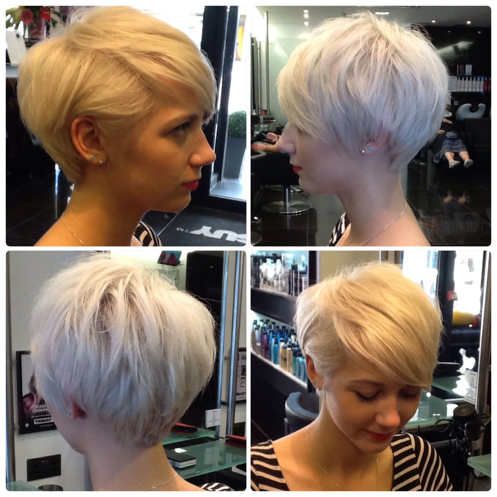 Short hair created by tanya long from toniguy poole hairdressing