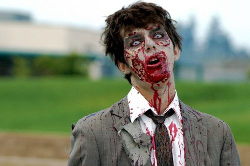 wikiHow to Select Clothing for Zombie Costumes -- via wikiHow - walking dead halloween costume ideas