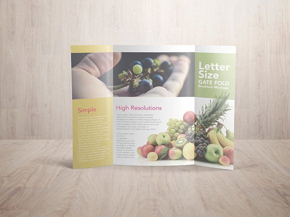 Gatefold Brochure Mockups  Mockup Brochures And Creative
