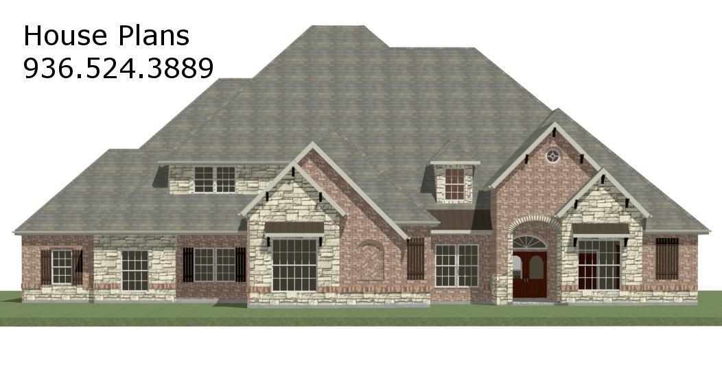 Houston texas house plans custom home design lake conroe for Custom house plan maker