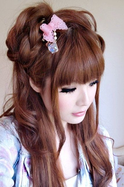 Japanese Long Hairstyles Updo Google Search Capelli Stile Stile Orientale