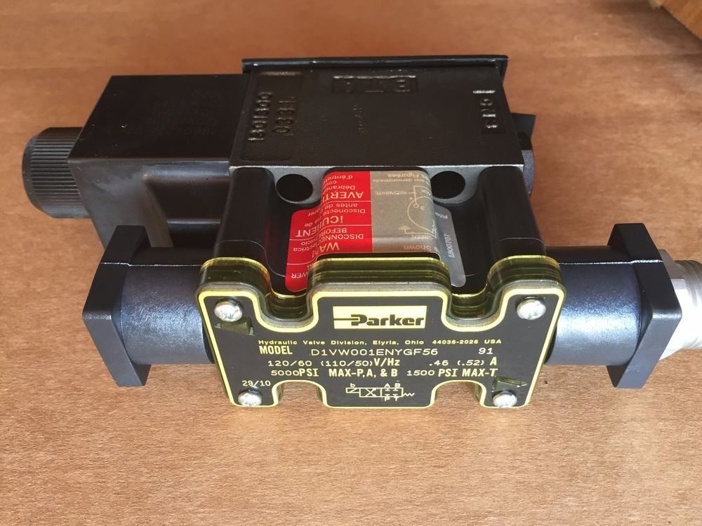 Parker Directional Control Solenoid Hydraulic Valve D1vw001enygf56 Parker With Images Valve Hydraulic Ebay