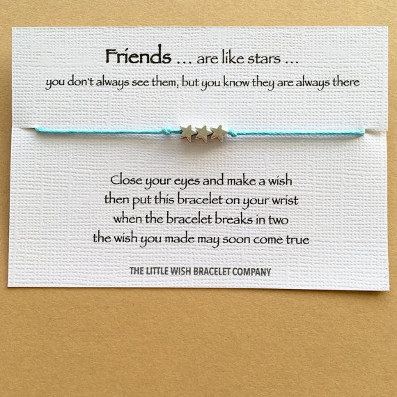 Wish Bracelet Favour * Friendship Gift A Wish For My Sister