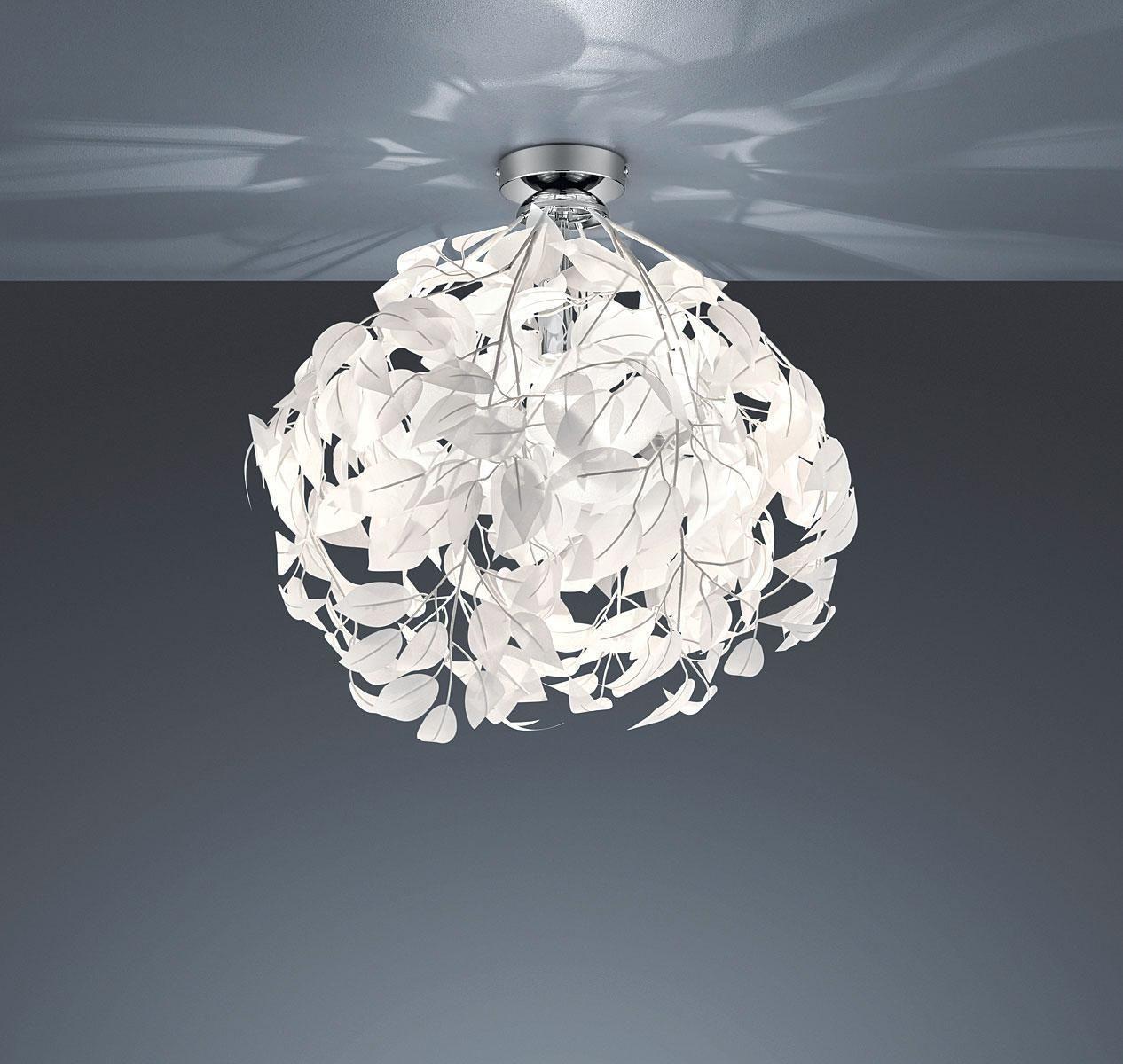x 20 Watt QAZQA Modern Deckenleuchte//Deckenlampe//Lampe//Leuchte Drum mit Schirm LED 40 grau//Innenbeleuchtung//Wohnzimmerlampe//Schlafzimmer//K/üche Textil//Stahl Rund LED geeignet Max