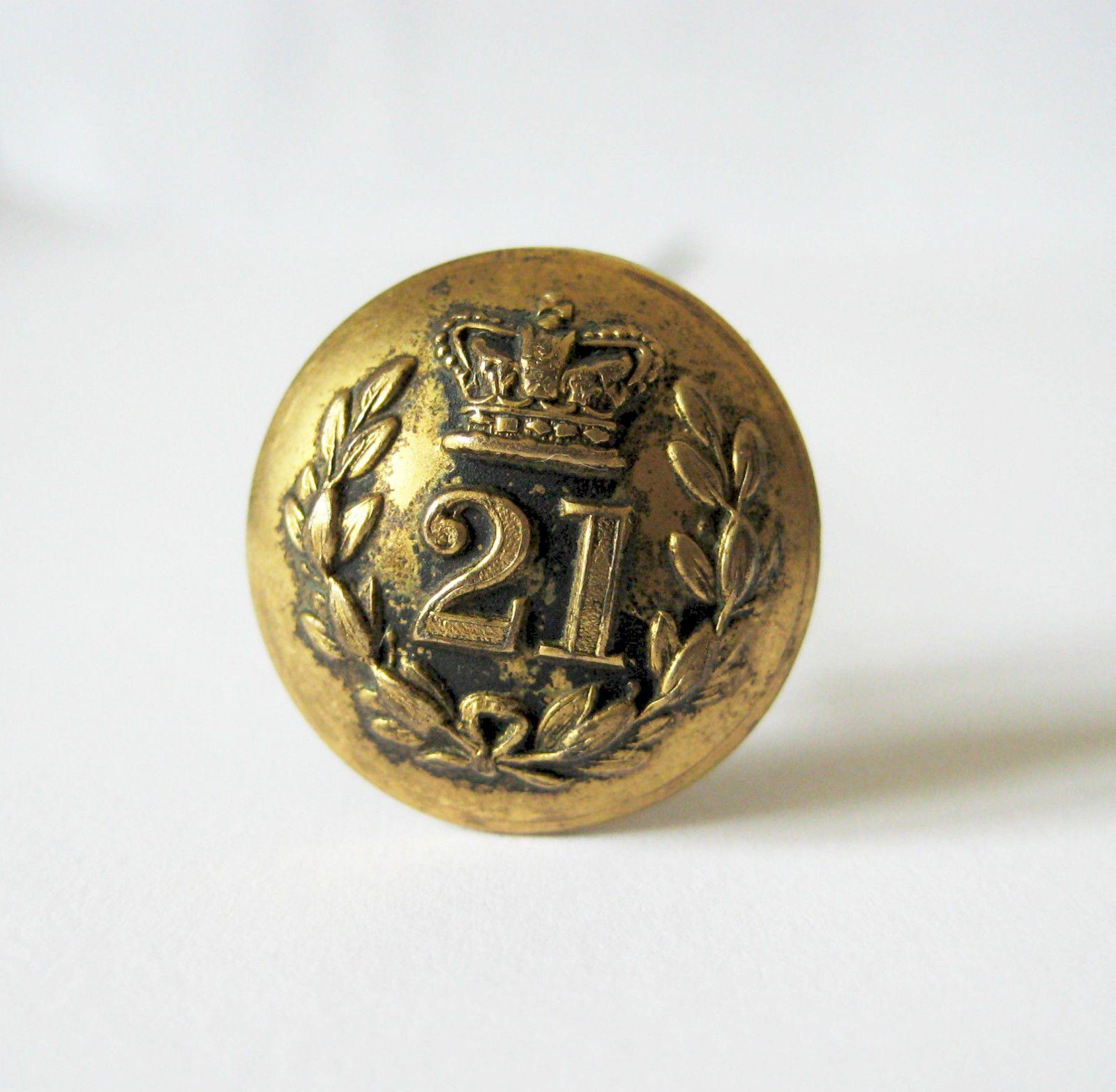 Victorian Army Button Hat PIn 21st Punjab Regiment British Indian Army | eBay