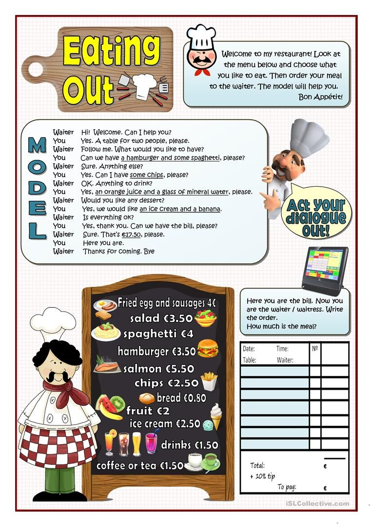 Eating Out Worksheet Free Esl Printable Worksheets Made By Teachers English Teaching Materials Learn English English Language Teaching [ 1079 x 763 Pixel ]