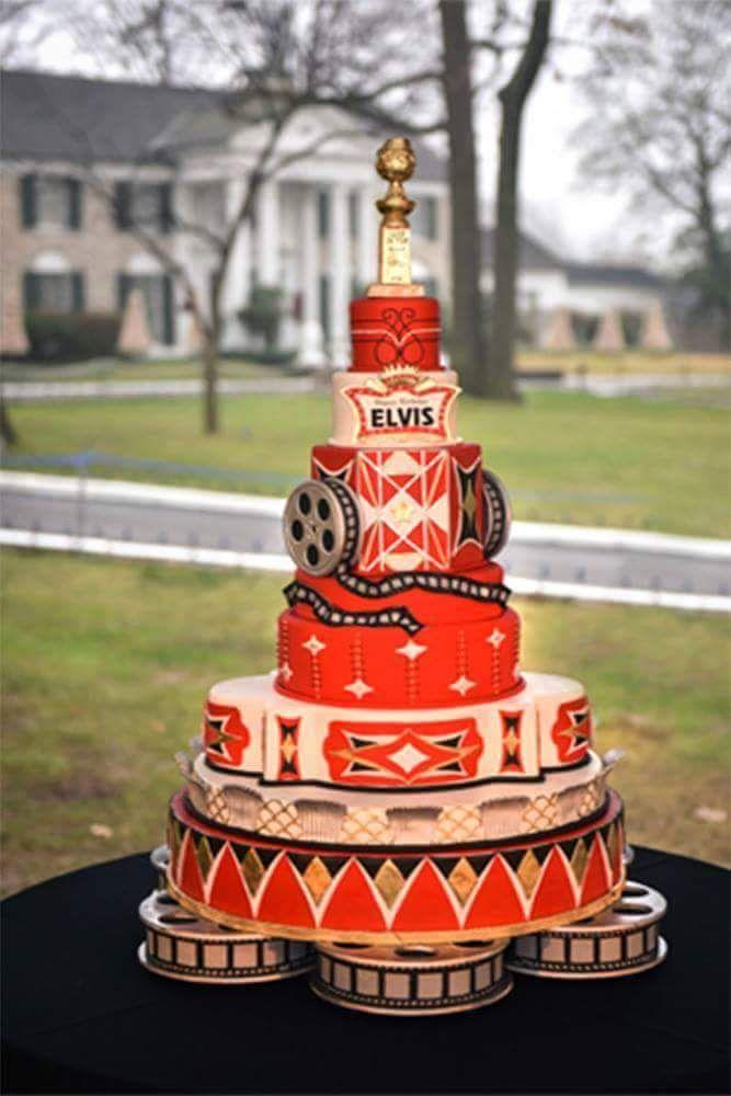 Birthday Cake for Elvis 81st Birtday Celebration at Graceland. Jan. 8, 2016