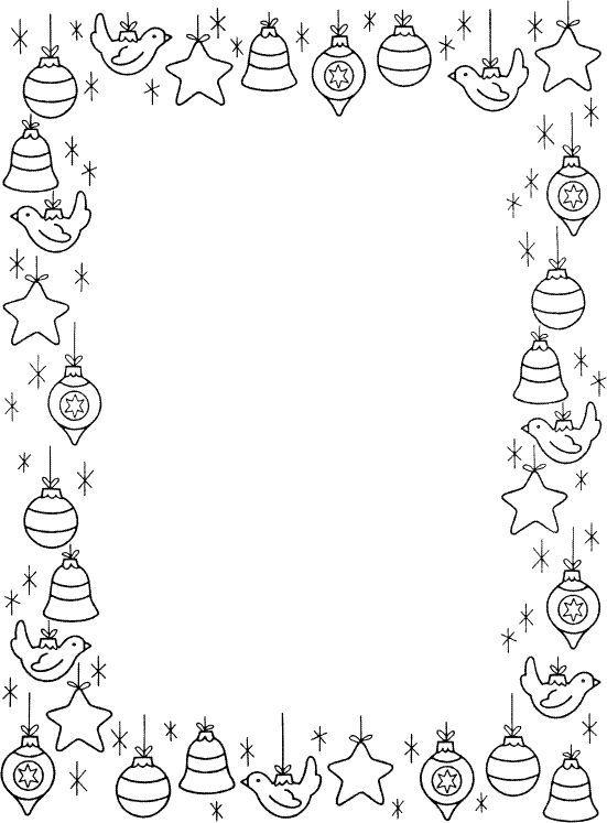 bordas para colorir | Printables | Pinterest | Weihnachten ...
