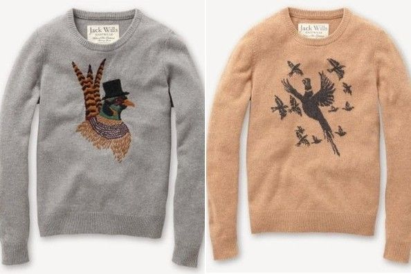 ansdell crew bird sweaters