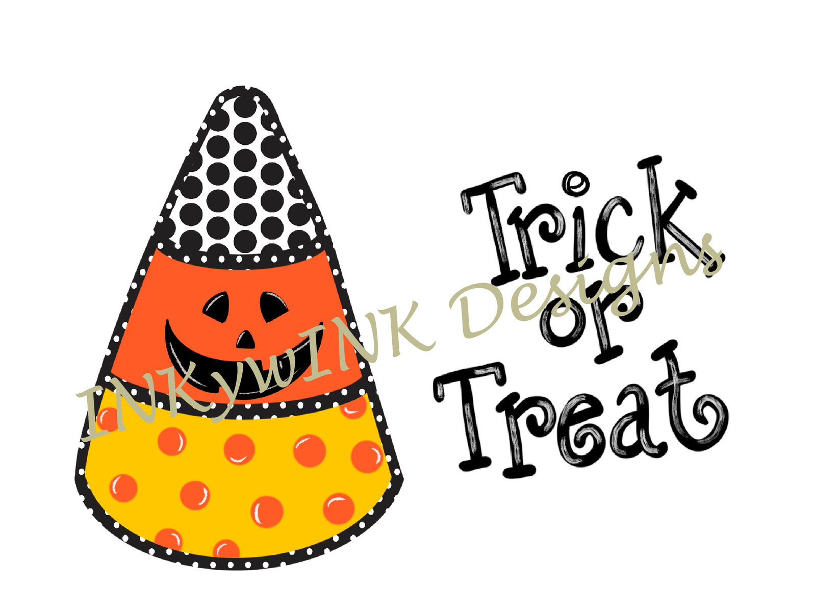 Candy Corn Trick Or Treat Png Sublimation Halloween October Jack O Lantern Trick Or Treat Digital Design Candy Corn