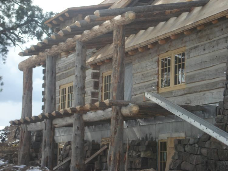 Bos Log Home Builders Fine Log Homes Log Entry Ways Log Home Plans - Slides - Log Porches, Railings