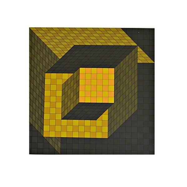 Signed Épreuve d\'Artiste Silkscreen Print by Vasarely