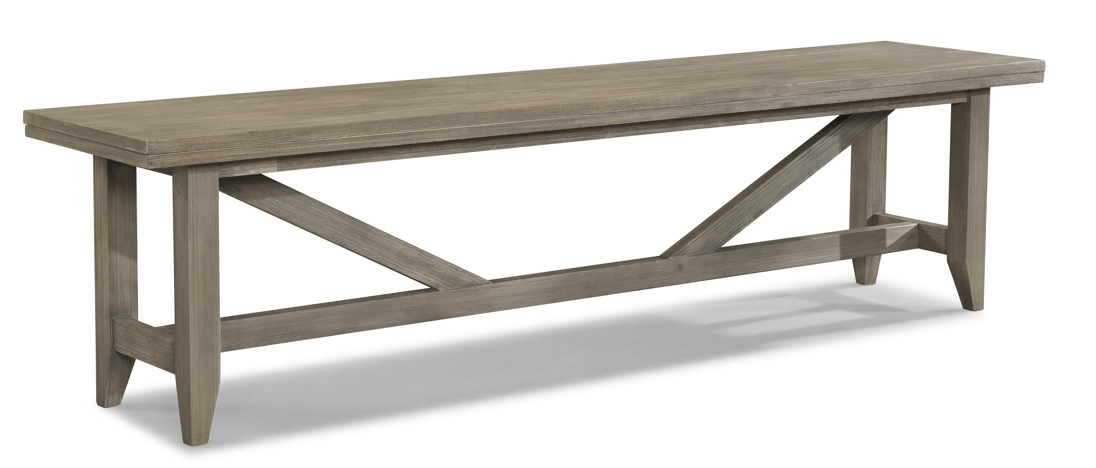 Long Weathered Dining Bench By Cresent Fine Furniture Wood Bench Solid Wood Benches Wood Storage Bench