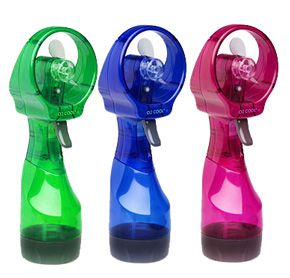 Personal Battery Operated Misting Fan Handheld And