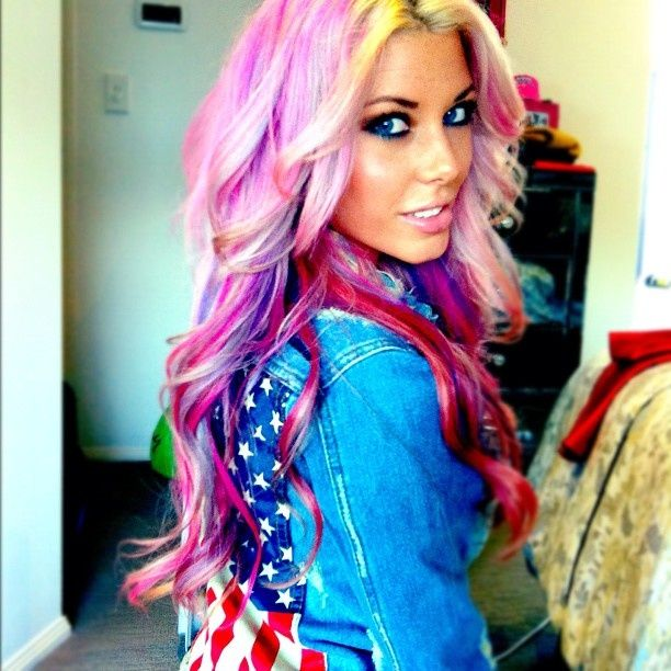 blonde hair with pink and purple highlights wwwpixshark