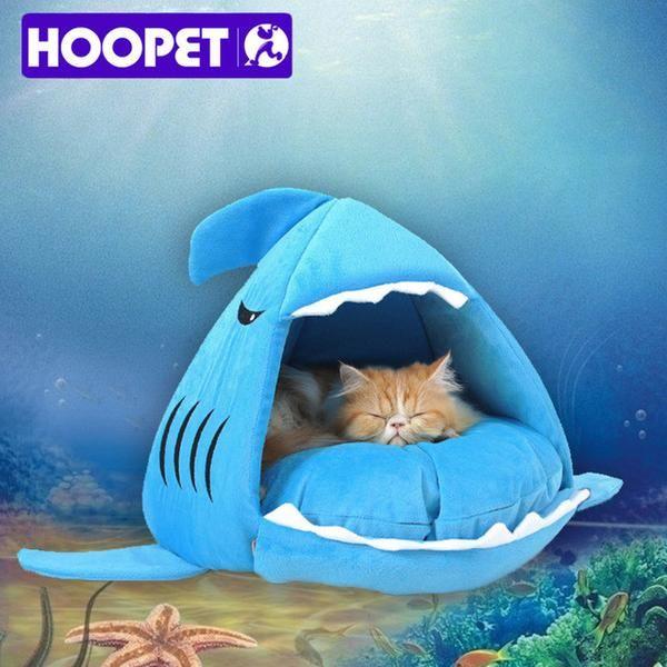Dog Supplies Pet Bed Puppy Shark Shape Cushion Dog House Cat Kennel Warm Pet