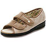 ade2755229e3 Dr Keller Womens Diabetic Orthopaedic Wide Fit Adjustable Comfort Slippers   Amazon.co.uk