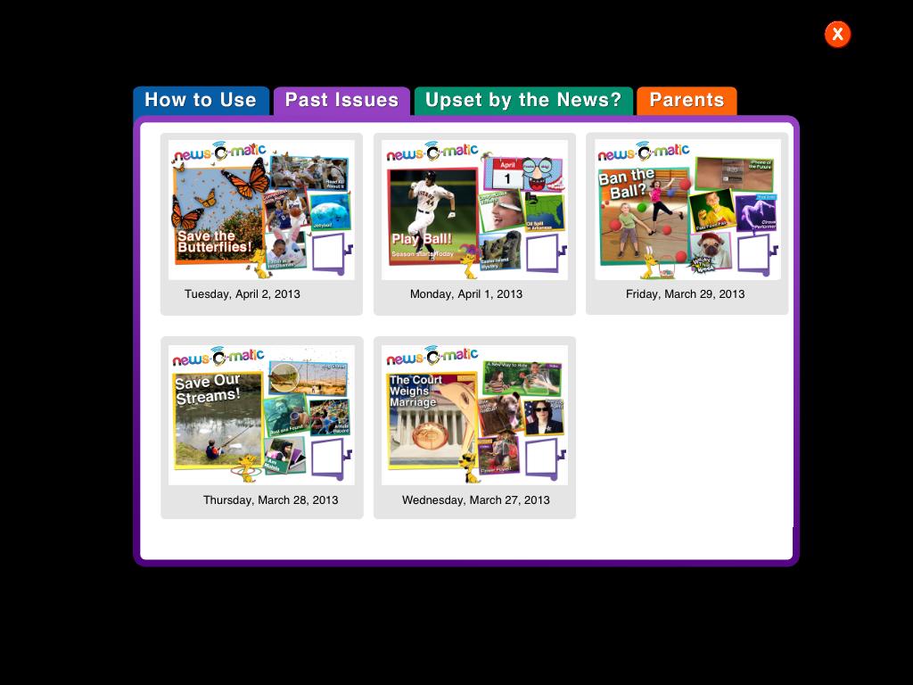 News O Matic App Review Daily News For Kids App Reviews Kids