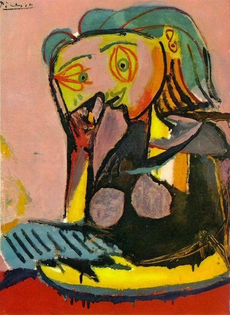 Pablo Picasso, 1937 Femme accoudée | Picasso (es) 1 - the women ...