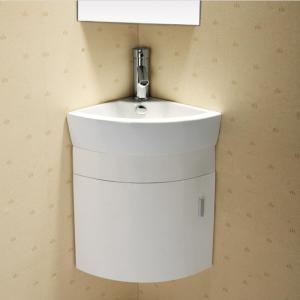 Elanti 17 5 In Vanity Cabinet With Porcelain Wall Mounted Corner Bathroom Sink In White Corner Sink Bathroom Small Bathroom Sinks Wall Mounted Bathroom Sinks
