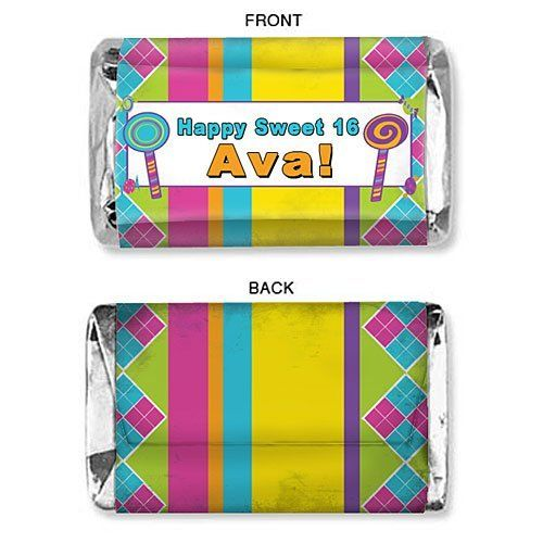 Sweet Stripes Personalized Mini Candy Bar Wrapper - Qty 75 by Shindigz, http://www.amazon.com/dp/B004XDV8EC/ref=cm_sw_r_pi_dp_Mrr-qb02K9F8W