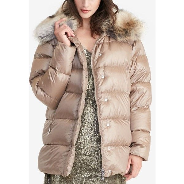 Lauren Ralph Lauren Quilted Down Coat ($150) ❤ liked on Polyvore featuring  outerwear,