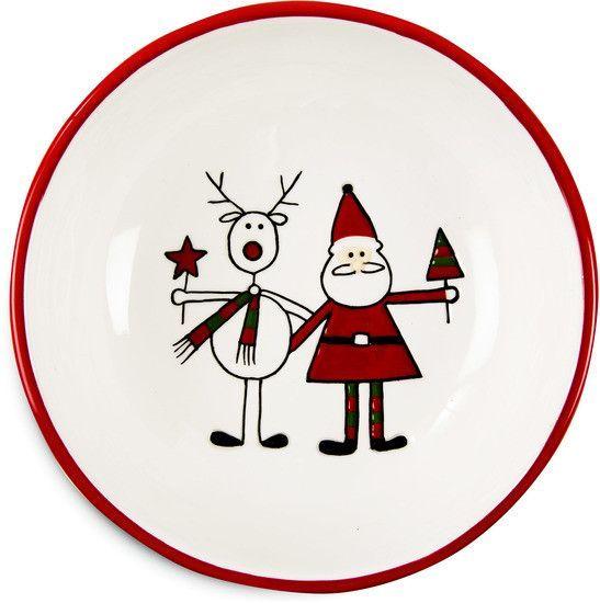 """Reindeer with Santa - 6.5"""" Bowl"""