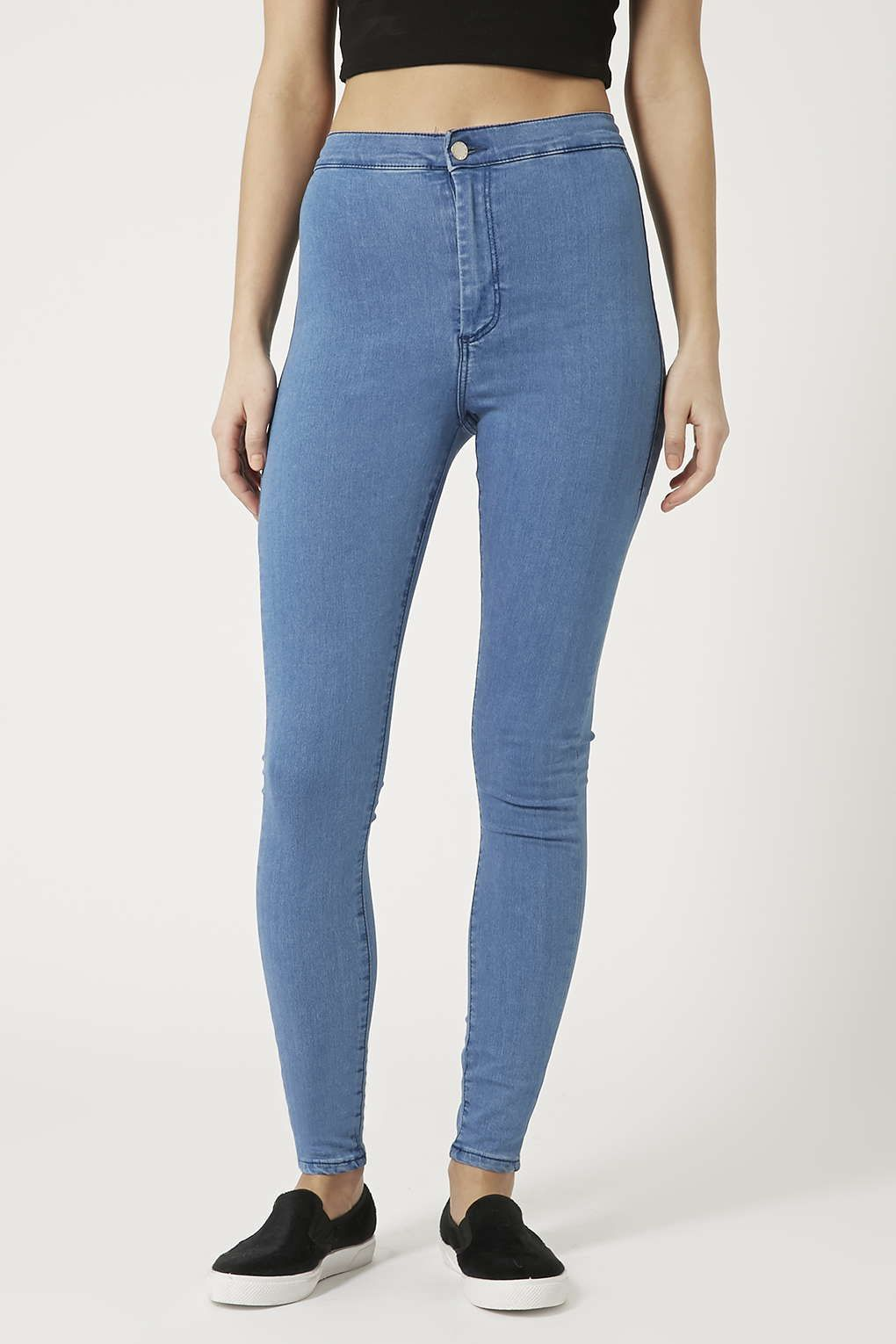 MOTO Pretty Mid-Stone Joni Jeans - Joni Super High Waisted Jeans - Jeans -  Clothing