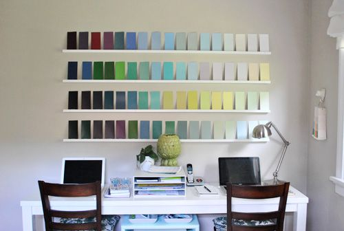 Adding Wall Interest With A Bunch Of Paint Swatches