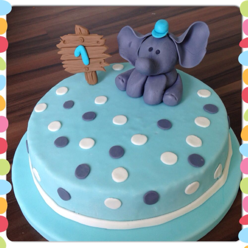 elefant fondant torte 1 geburtstag elephant cake meine torten my cakes pinterest. Black Bedroom Furniture Sets. Home Design Ideas
