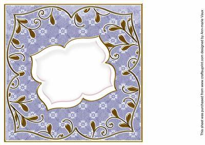 Dark Blue Daisy Fancy 8in Insert Panel on Craftsuprint designed by Ann-marie Vaux - I have designed this insert panel for your 8x8in cards and to mix and match with many of my designs including my card fronts and stackers, or use them with any of your projects. Simply cut out and attach using flat glue to the inside of your card. Lots of colour choice available, please check the multi link to see them. - Now available for download!