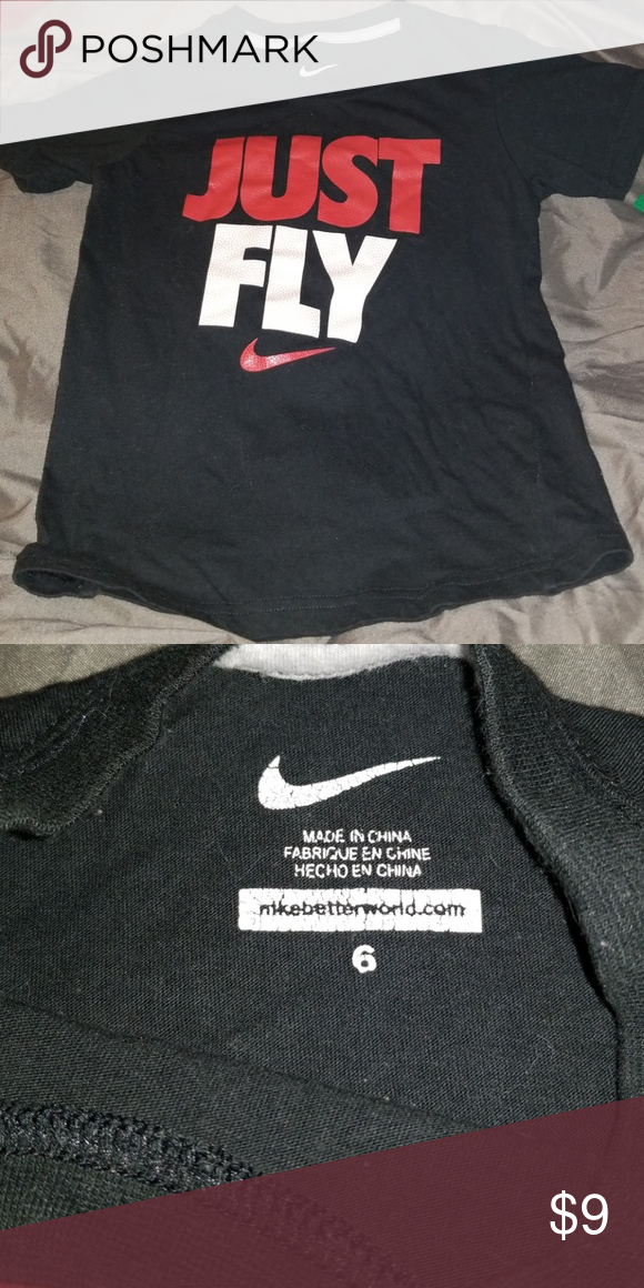 Nike t-shirt Just Fly Nike t-shirt. It is good condition size c13d8a66f