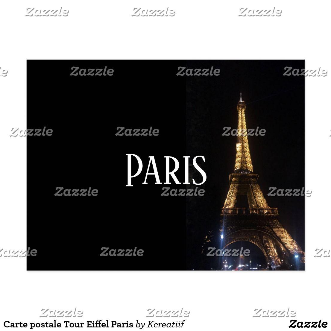 Carte postale Tour Eiffel Paris | Zazzle.fr | CARTES | Tour eiffel, Postale et Eiffel