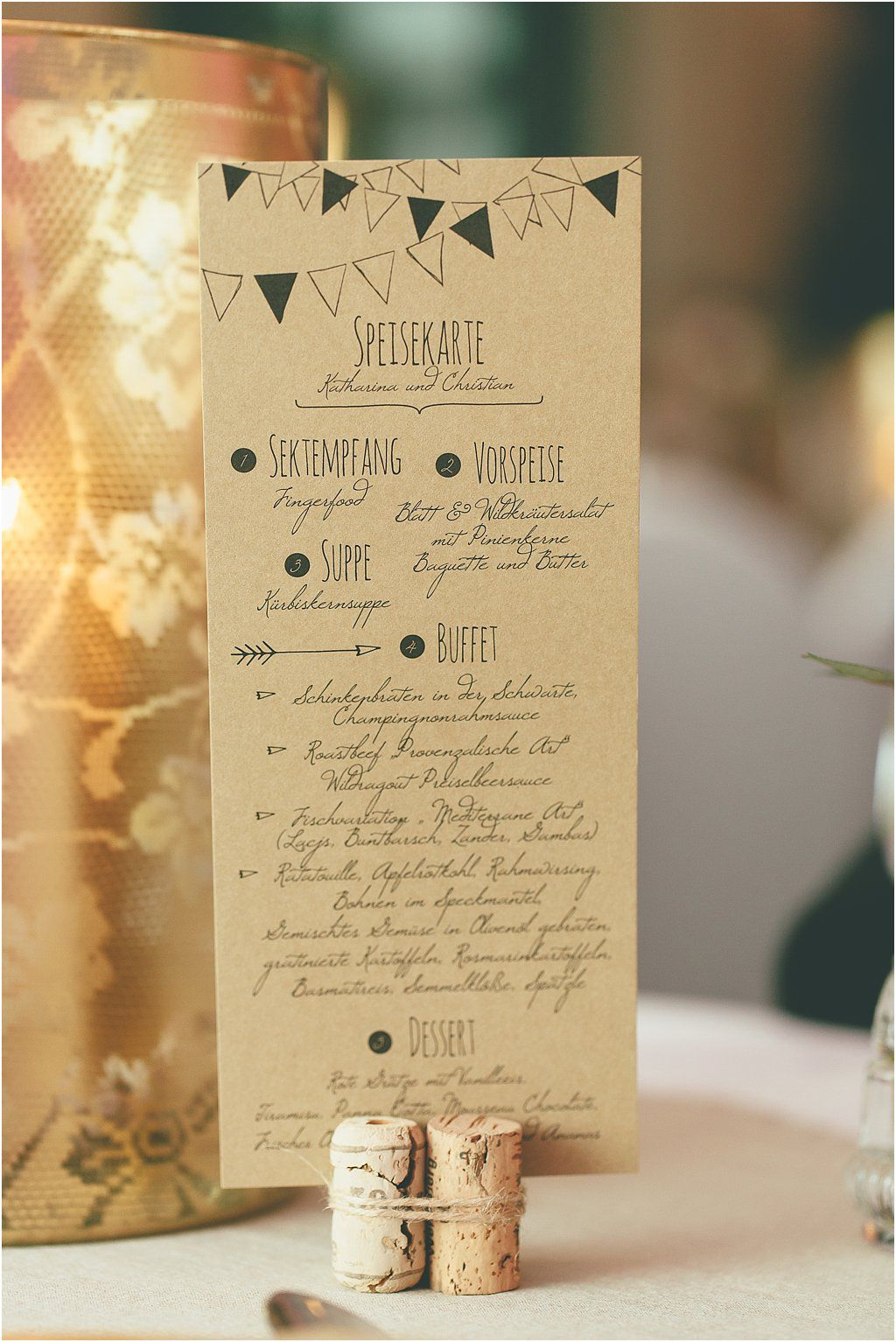 Papeterie Braunes Papier  Bohemian Style Design Anmut