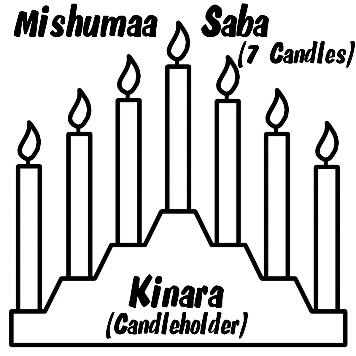 Image Result For Kwanzaa Clip Art Black And White Coloring Pages