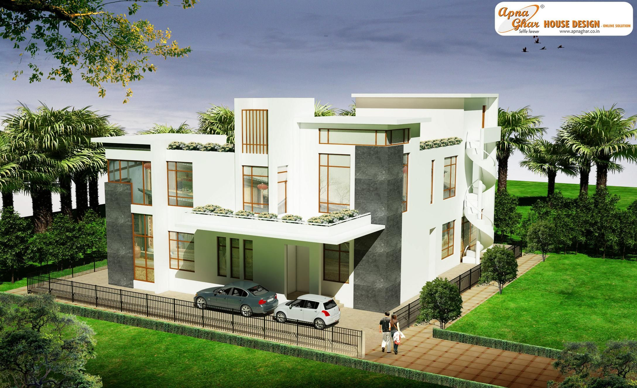 4 bedrooms bungalow house design in 504m2 21m x 24m like share