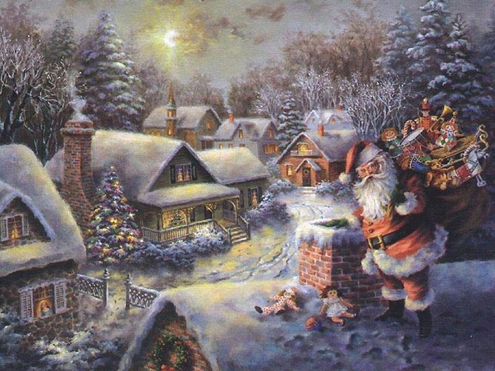 Image result for traditional christmas scene Christmas