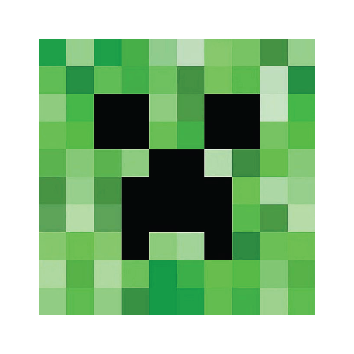 It's just a photo of Crafty Minecraft Creeper Face Printable