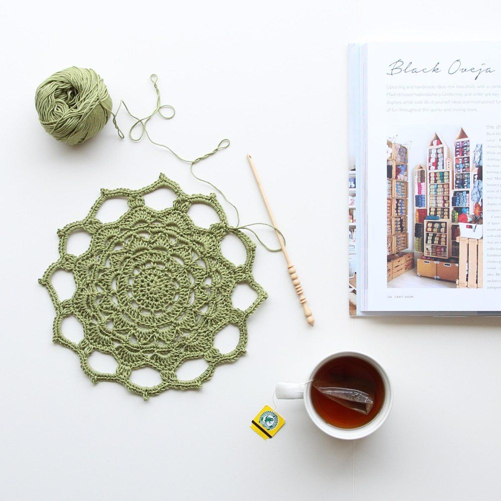 A Bright And Simple Free Mandala Pattern Made From Dmc Natura Just