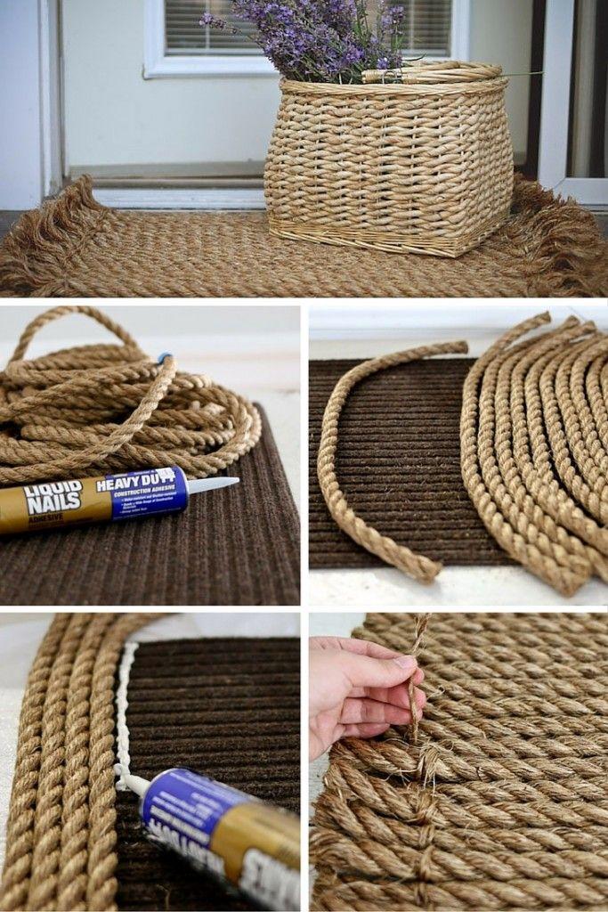 DIY Rope Rug! | Tappeti corda | Rope rug, Rope crafts, Home ...