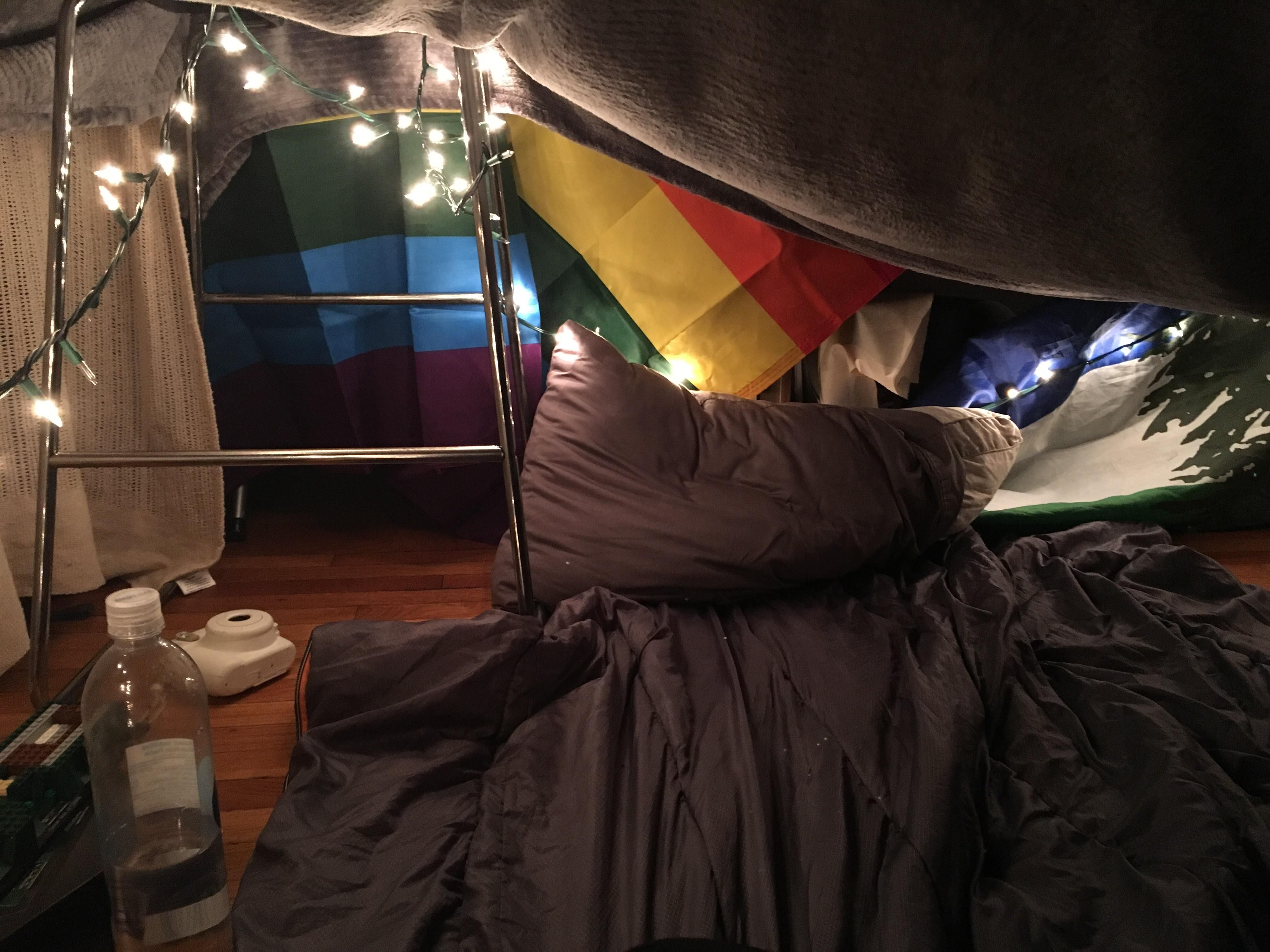 The blanket fort my boyfriend and I made