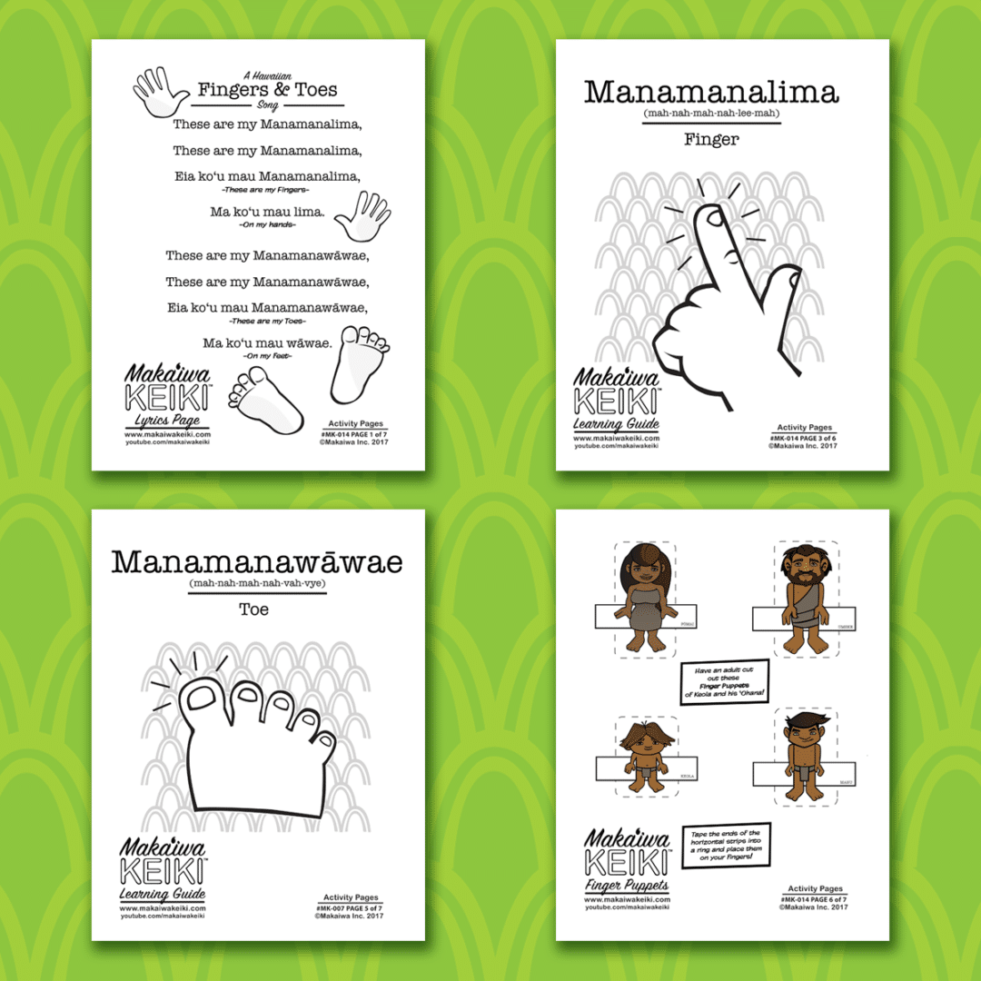 Learn Hawaiian The Fun Way With Our Free Printable Learning Guide Featuring How To Say Fingers
