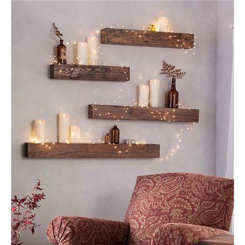 49 Elegant Diy Wall Shelving Ideas Home Design Rustic Wooden Shelves Wooden Wall Shelves Room Decor