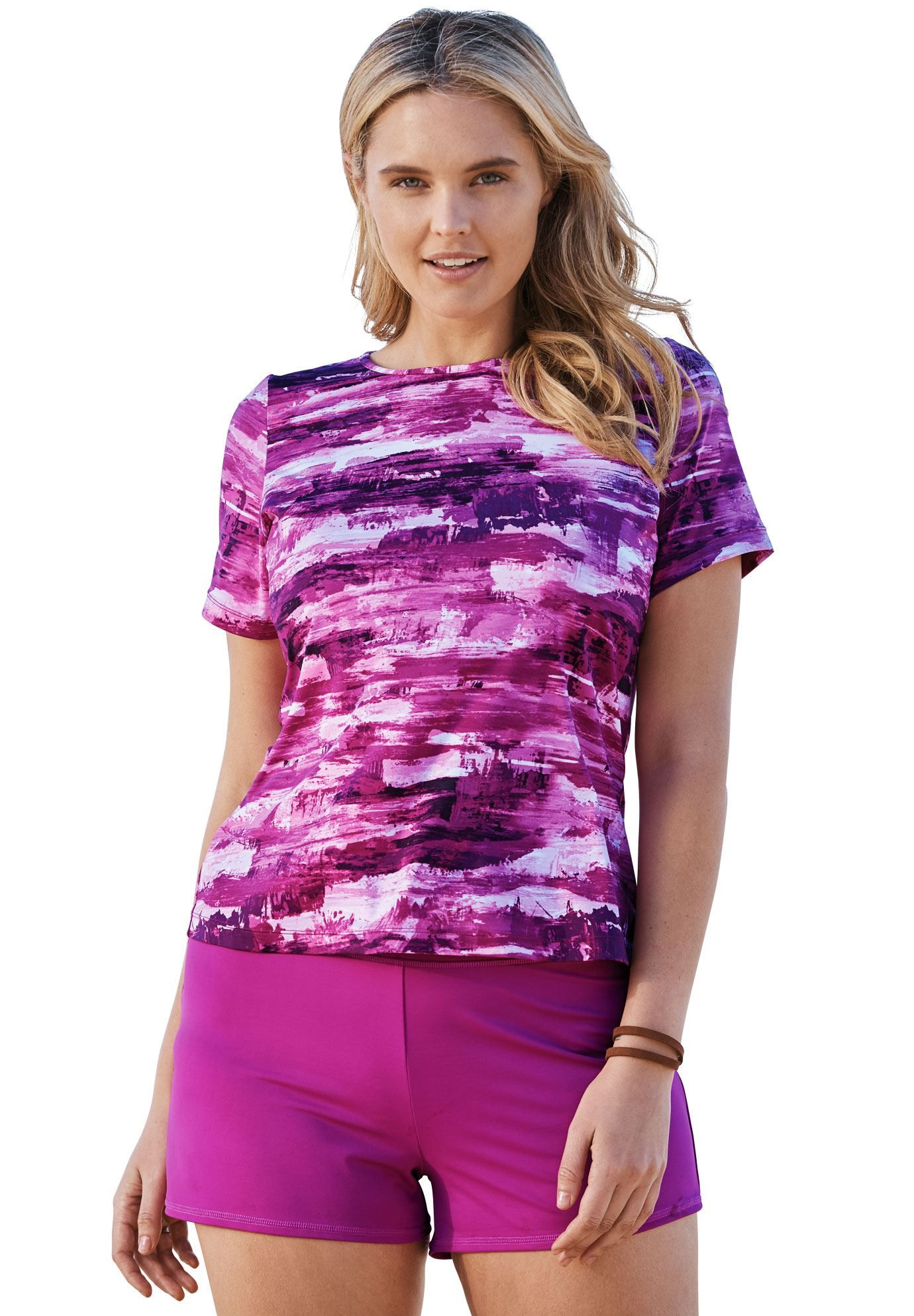 6917951523 Swim T-shirt cover-up for sun protection by Swim 365 - Women's Plus Size  Clothing