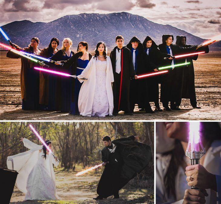 Ideas Divertidas Para Decoración De Bodas Seleccionado Por Tu Boda Site Fotos Sesión Al Estilo Star Wars