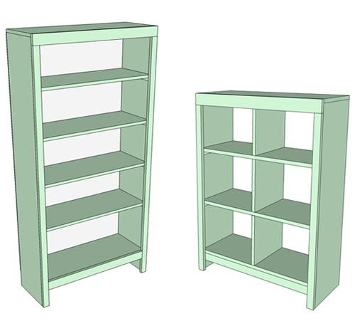 Wooden Plans For Bookshelf Diy Blueprints If You Plan To Paint Your Bookcase